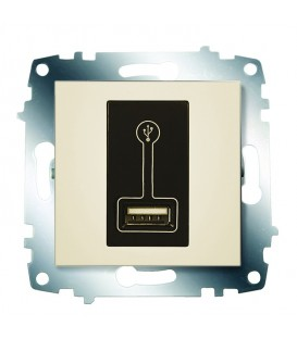 Зарядка USB, 500 мА ABB Cosmo (Кремовый)