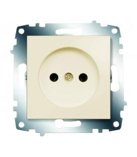 Розетка электрическая без заземления ABB Cosmo (Кремовый)