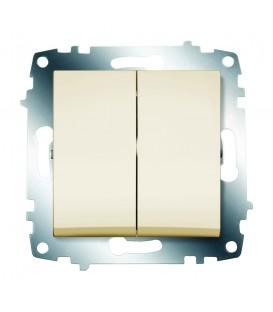 Выключатель двухклавишный ABB Cosmo (Кремовый)