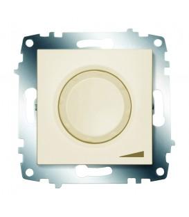 Диммер поворотный 800Вт ABB Cosmo с подсветкой (Кремовый)