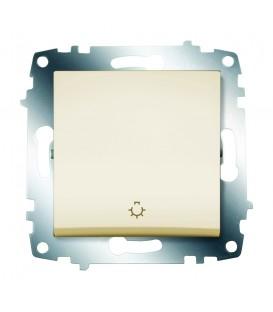 Кнопка одноклавишная ABB Cosmo (Кремовый)