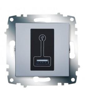Зарядка USB, 500 мА ABB Cosmo (Алюминий)