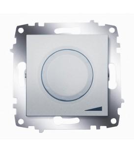 Диммер поворотный 800Вт ABB Cosmo с подсветкой (Алюминий)