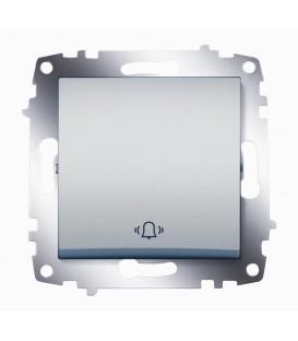 Кнопка одноклавишная ABB Cosmo (Алюминий)