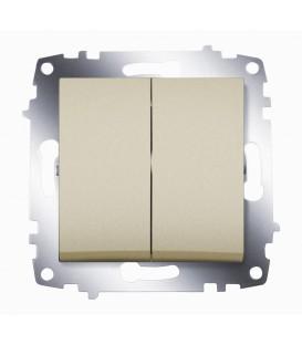 Выключатель двухклавишный ABB Cosmo (Титаниум)