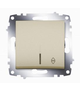 Переключатель одноклавишный ABB Cosmo с подсветкой (Титаниум)