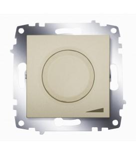 Диммер поворотный 800Вт ABB Cosmo с подсветкой (Титаниум)
