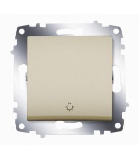 Кнопка одноклавишная ABB Cosmo (Титаниум)