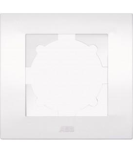 Одноместная рамка белая ABB Cosmo