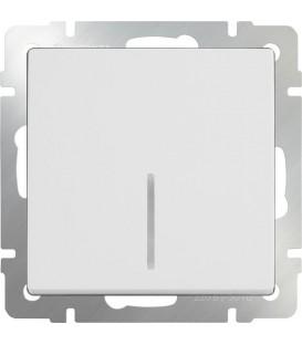 Выключатель одноклавишный проходной с подсветкой.