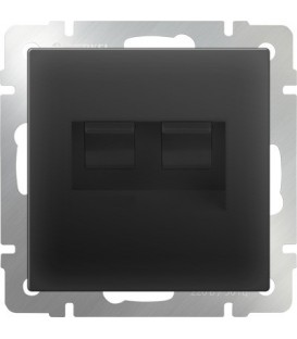 Werkel. ТF-Телефонная розетка RJ-11 и UTP-Компьютерная розетка RJ-45. Черная