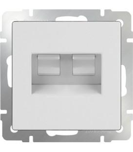 Werkel. Розетка двойная Ethernet RJ-45 UTP+UTP Белая