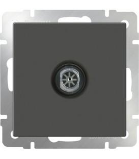 Werkel. ТV-Телевизионная розетка проходная. Серо-коричневый