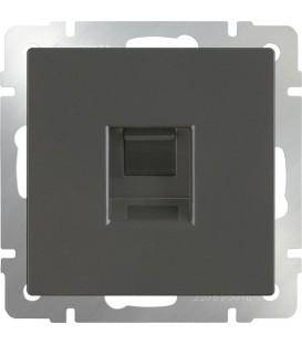 Werkel. UTP-Компьютерная розетка RJ-45. Серо-коричневая
