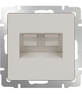 Werkel. Розетка двойная Ethernet RJ-45 UTP+UTP Слоновая кость