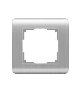 Рамка Werkel 1-я Stream Серебро (Веркель Стрим серебро)