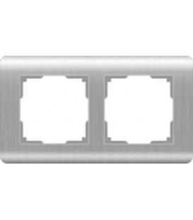 Рамка Werkel 2-я Stream Серебро (Веркель Стрим серебро)