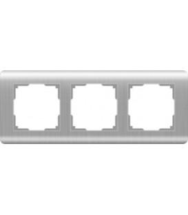 Рамка Werkel 3-я Stream Серебро (Веркель Стрим серебро)
