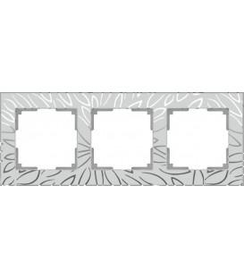 Рамка Werkel 3-я Edel матовое стекло (Веркель Эдель)
