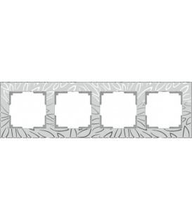 Рамка Werkel 4-я Edel матовое стекло (Веркель Эдель)