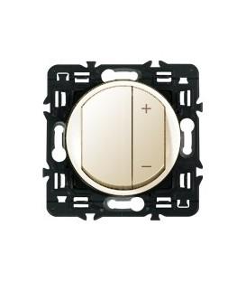 Светорегулятор 600Вт Celiane с лицевой панелью (слоновая кость)