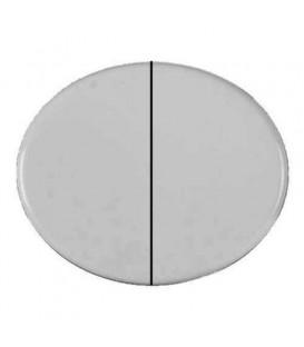Выключатель двухклавишный 10А ABB TACTO (Белый)