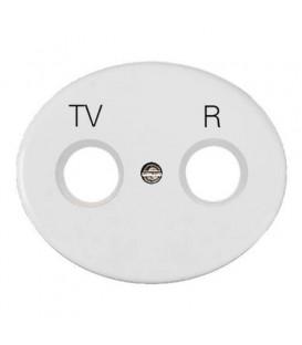 Розетка TV-R-SAT проходная Tacto (Белый)