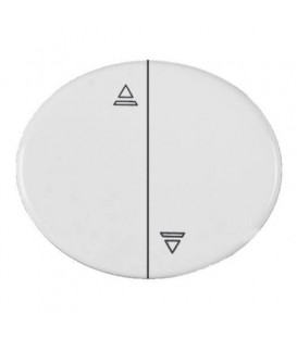 Кнопка для управления жалюзи с блокировкой одновременного включения 10А TACTO (Белый)