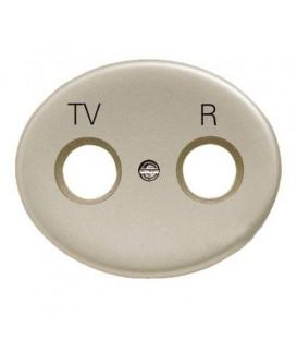 Розетка TV-R-SAT проходная Tacto (Шампань)