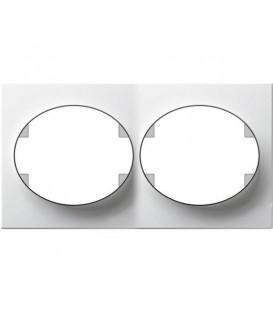 Рамка двухместная горизонтальная ABB Tacto (белый)