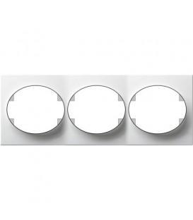 Рамка трехместная горизонтальная ABB Tacto (белый)