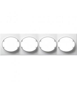 Рамка четырехместная горизонтальная ABB Tacto (белый)