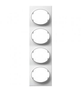 Рамка четырехместная вертикальная ABB Tacto (белый)
