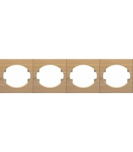 Рамка четырехместная горизонтальная ABB Tacto (бук)