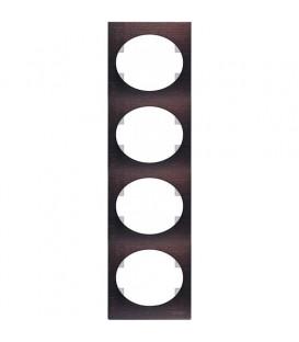 Рамка четырехместная вертикальная ABB Tacto (венге)
