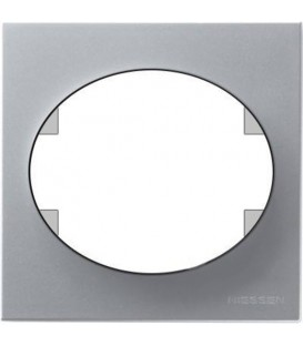 Рамка одноместная ABB Tacto (серебристый)