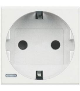 Розетка Axolute 2К+З, 10/16 А 250В с зазем. контактами Schuko, с защитными шторками, 2 модуля
