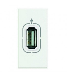 Разъем USB для передачи данных, винтовое подключение кабеля, Axolute антрацит 1 модуль