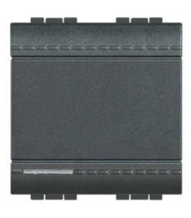 Переключатель с подсветкой (цвет янтарный) на 2 направления LivingLight 16 А 250В 2 модуля