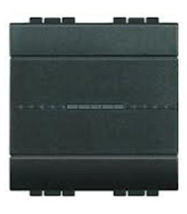 Выключатель с подсветкой (цвет янтарный) LivingLight 16 А 250В, дизайн AXIAL, 2 модуля
