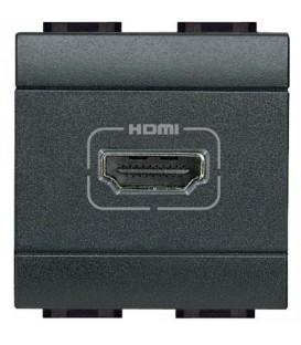 Разъем HDMI, винтовое подключение кабеля, LivingLight антрацит 2 модуля