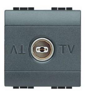 TV+SAT oконечная коаксиальная розетка для схемы «звезда» LivingLight, 2 модуля