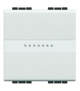 Переключатель промежуточный (из 3-х мест) LivingLight 16 А 250В, дизайн AXIAL, 2 модуля