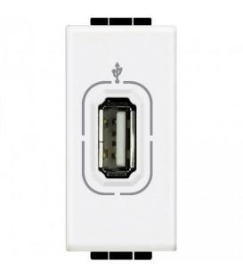 Разъем USB для передачи данных, винтовое подключение кабеля, LivingLight антрацит 1 модуль