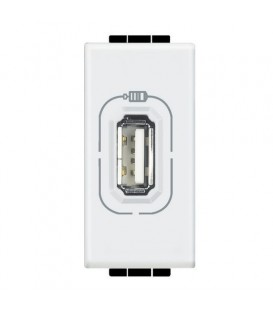USB розетка 5B 750 мА для зарядки, 230 В, Axolute антрацит 1 модуль