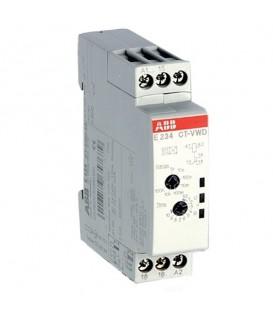 Реле времени ABB CT-VWD.12 (с проскальзыванием) 24-48B DC, 24-240B AC (7 диапазонов 0,05с..100ч) 1ПК