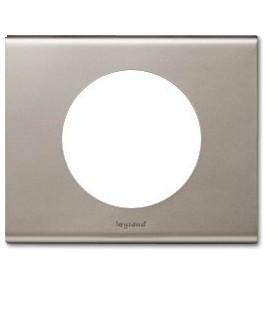 Рамка Legrand Сeliane одноместная (никель велюр)
