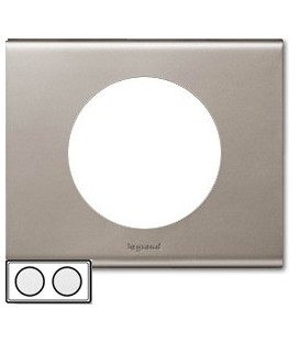 Рамка Legrand Сeliane двухместная (никель велюр)