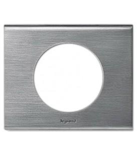 Рамка Legrand Сeliane одноместная (фактурная сталь)