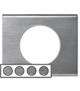 Рамка Legrand Сeliane четырехместная (фактурная сталь)
